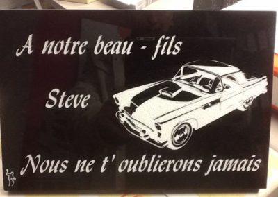 Plaque commémorative personnalisée Liège