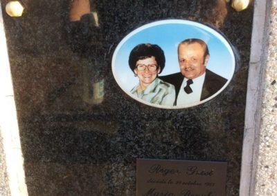 Columbariums plaque commémorative Liège