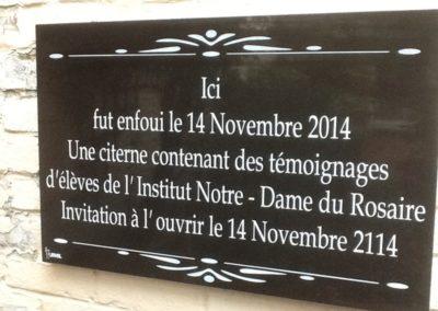 Gravure plaque funéraire à Liège