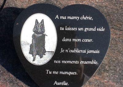 Plaque commémorative personnalisée