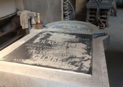 Plaque commémorative sculpture Liège
