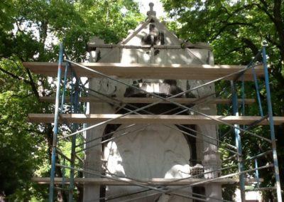 Restauration de monument funéraire à Liège
