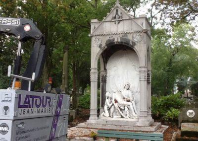 Restauration monument funéraire Liège